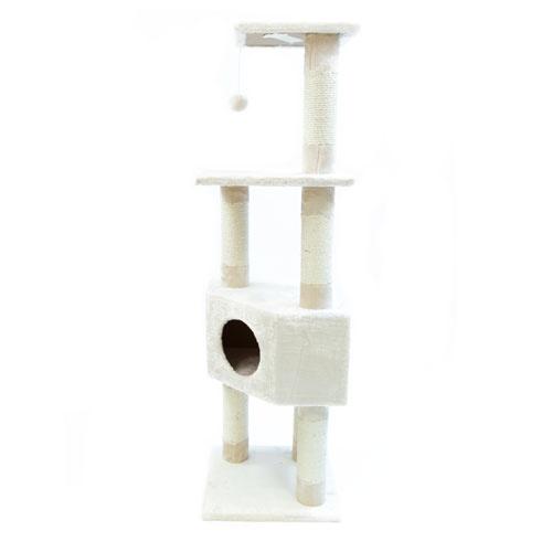 Arranhador 4 alturas com refúgio TK-Pet Lira