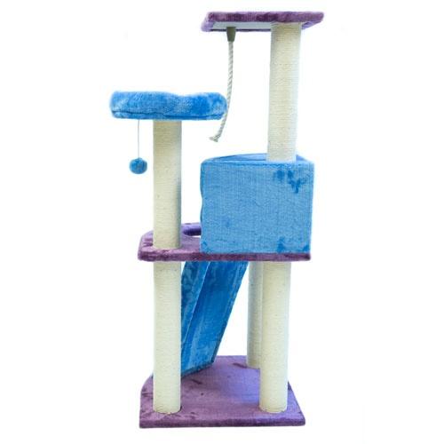 Arranhador com refúgio e brinquedos pendurados TK-Pet Tucana