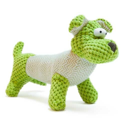 Brinquedo cãozinho verde de peluche TK-Pet George