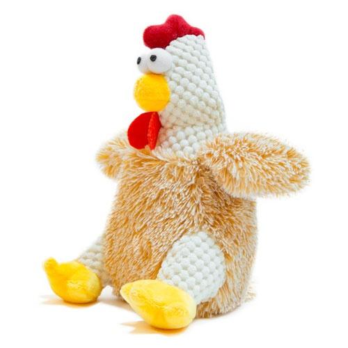 Brinquedo galinha bege de peluche TK-Pet Patti