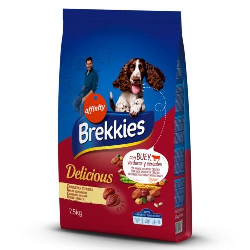 Brekkies Delicious ração para cães com carne de vaca