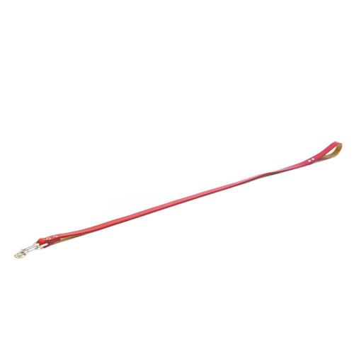 Trela de couro TK-Pet Clásica vermelha
