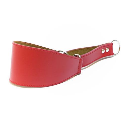 Coleira de couro para galgos Clásico vermelha