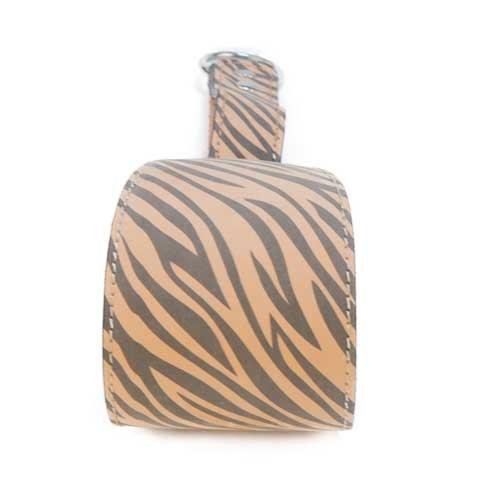 Coleira de pele para galgos TK-Pet Zebra