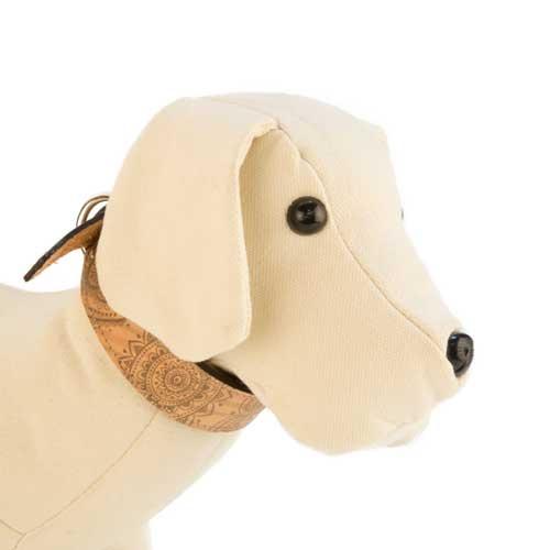 Coleira de pele para cães TK-Pet Mandala