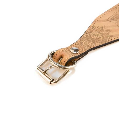 Coleira de pele para lébrel TK-Pet Mandala