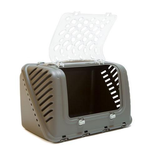 Caixa de transporte de desenho TK-Pet Deluxe castanho