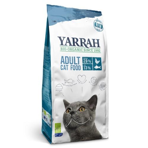 Ração ecológica Yarrah de peixe para gatos