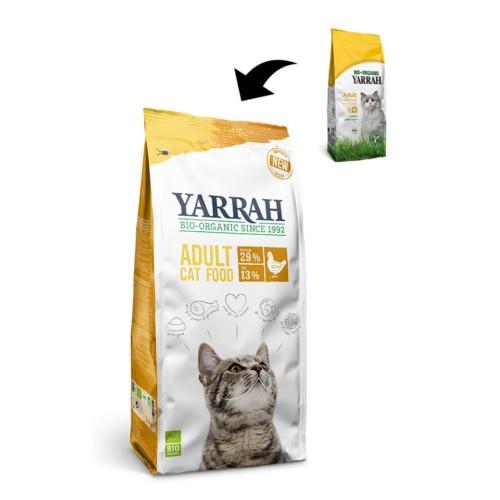 Ração ecológica Yarrah de frango para gatos
