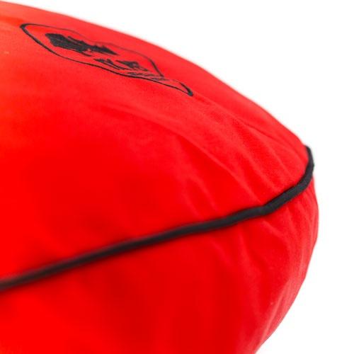 Cama viscoelástica redonda TK-Pet Simba vermelha
