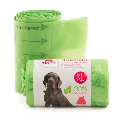 Sacos biodegradáveis XL TK-Pet para fezes