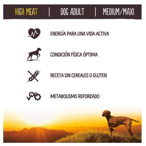 Ração para cães True Instinct High Meat salmão