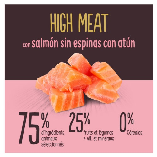 Ração para gatos True Instinct High Meat salmão