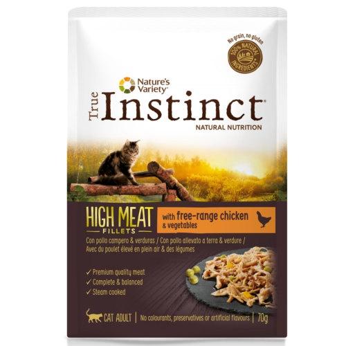True Instinct Hight Meat com frango e verduras
