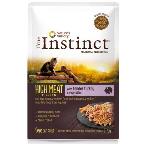 True Instinct Hight Meat com peru e verduras