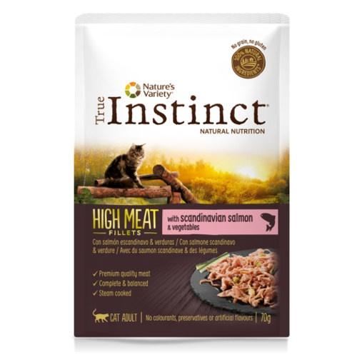 True Instinct Hight Meat com salmão e verduras