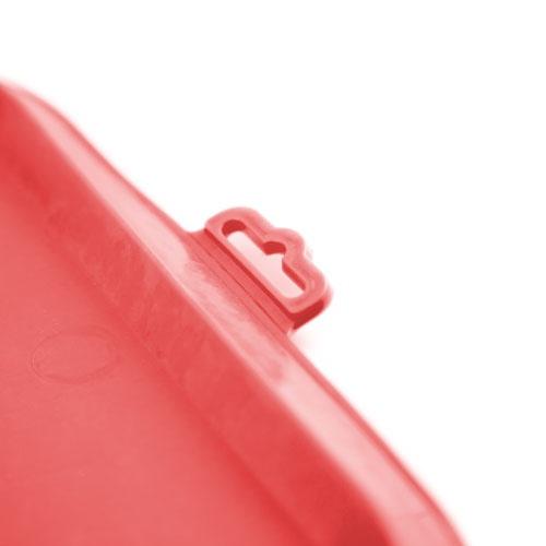 Tapete de borracha para comedouros TK-Pet vermelho