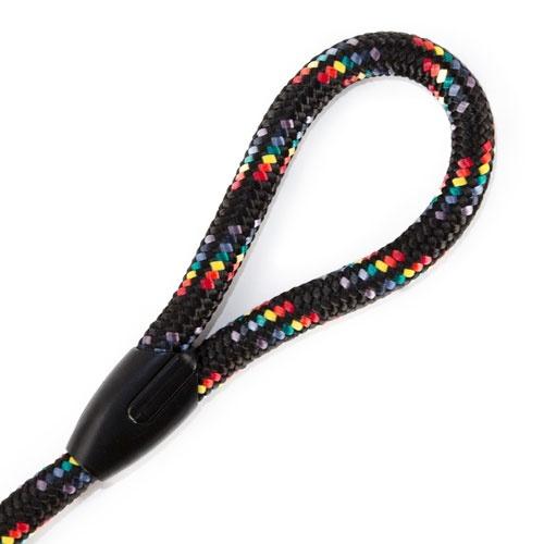 Trela curta com mola TK-Pet Ronda arco-íris