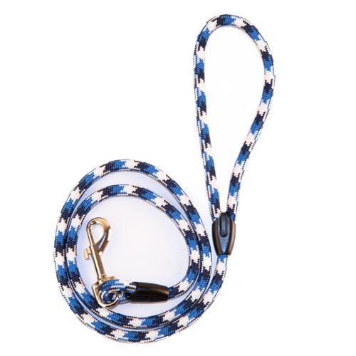 Trela fina TK-Pet Ronda azul tricolor