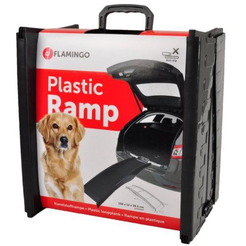Rampa dobrável de plástico para cães