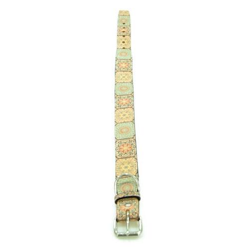 Coleira de couro TK-Pet Mosaico