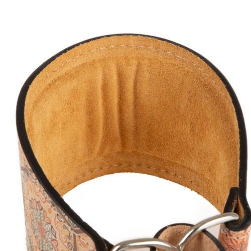 Coleira de couro para galgos TK-Pet Mosaico