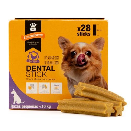 Criadores Dental Stick frango para cães pequenos
