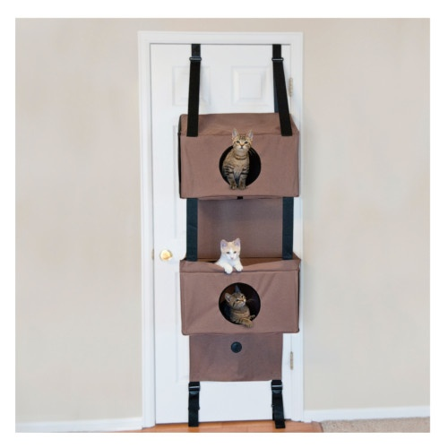 Árvore de gatos com 3 níveis para portas