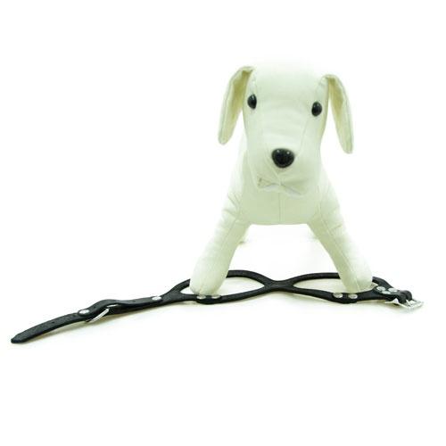 Peitoral de couro para cães Royale preto