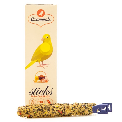 Barritas para canários Vivanimals Sticks Geleia real