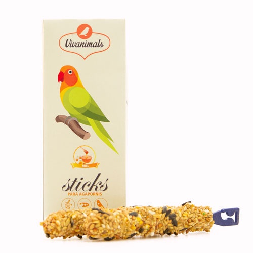 Barritas para pássaros-do-amor  Vivanimals Sticks Mel