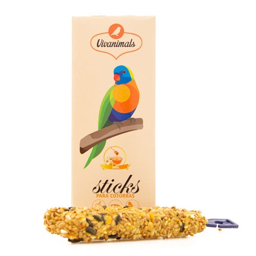 Barritas para caturras Vivanimals Sticks Mel