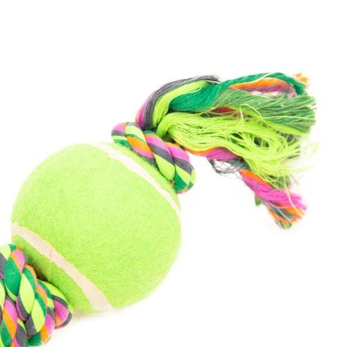 Brinquedo de corda TK-Pet com bolas de ténis