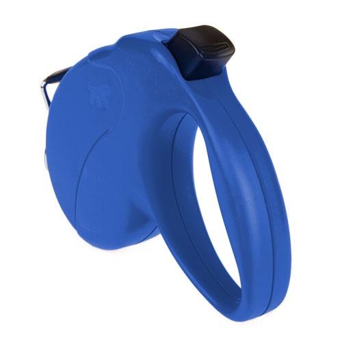 Trela extensível TK-Pet azul