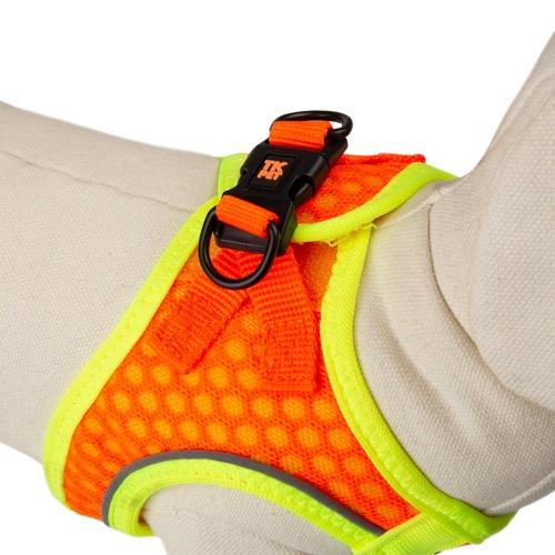 Peitoral de alta visibilidade TK-Pet Easy Click laranja