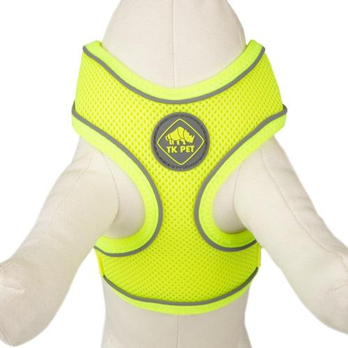 Peitoral de alta visibilidade TK-Pet Soft amarelo