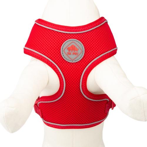 Peitoral de alta visibilidade TK-Pet Soft vermelho