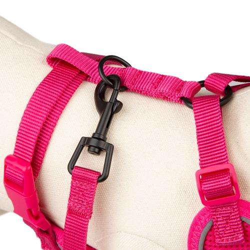Peitoral de alta visibilidade TK-Pet Soft cor-de-rosa