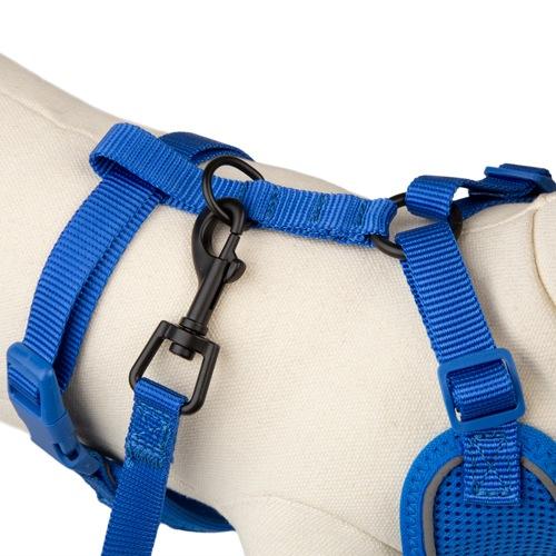 Peitoral de alta visibilidade TK-Pet Soft azul