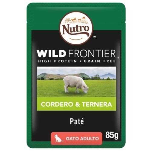 Patê Nutro Wild Frontier cordeiro e vitela para gatos