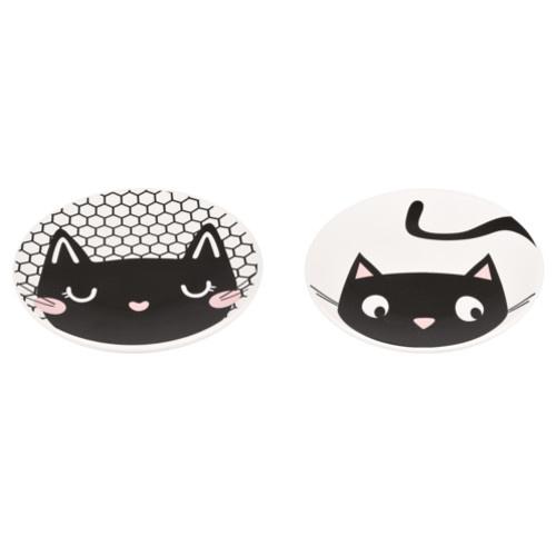 Prato de cerâmica para gatos Guus branco