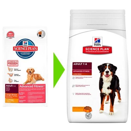 Hill's Canine Adult Advance Fitness Raças Grandes Frango