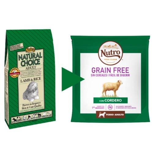 Nutro Grain Free com cordeiro para cães médios