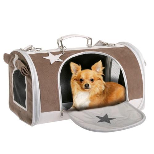 Bolsa de transporte com estrela para cães e gatos