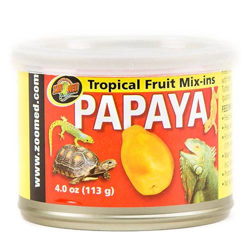 Fruta tropical para répteis