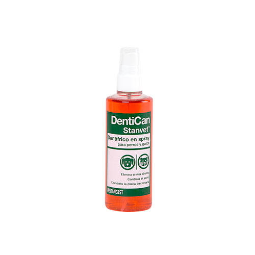 Spray dentífrico Dentican para mascotes