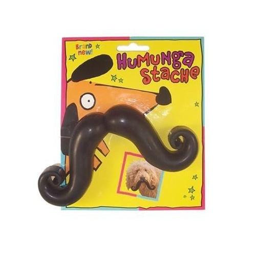 Humunga Stache Bola com bigode postiço para cães