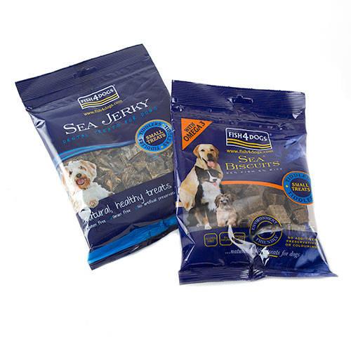 Fish4dogs Sea Jerky Tiddlers snack hipoalergénico peixe