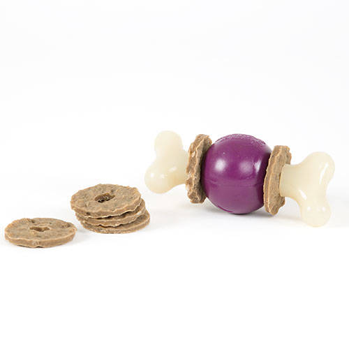 Bouncy bone Osso com bola mordedora porta-guloseimas