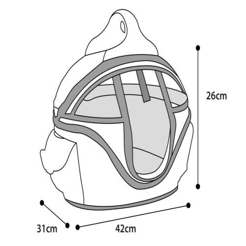Bolsa de transporte cama Shopper Deluxe para mascotes Cor Rosa